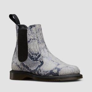 Dr. Martens snake skin flora Chelsea boot